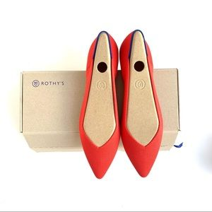 NIB Rothy's Flame Pointed Flats 8